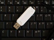 Lecteur d'Usb sur le clavier d'ordinateur Image libre de droits