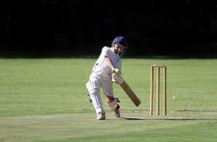 Lecteur de cache de cricket de garçon Photographie stock