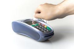 Lecteur de carte de crédit photographie stock libre de droits