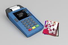 Lecteur de carte de crédit illustration stock