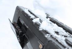 Lecteur de cassettes dans la neige Image libre de droits