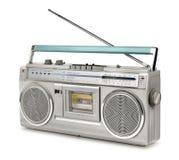 Lecteur de cassettes de radio de vintage d'années '80 Images libres de droits