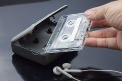 Lecteur de cassettes stéréo personnel portatif de bande Photo stock