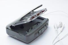 Lecteur de cassettes stéréo personnel portatif de bande Image stock