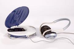 Lecteur de CD avec des écouteurs Photographie stock libre de droits