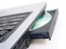 Lecteur de disque compact-ROM avec du CD Photo libre de droits