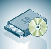 Lecteur de disque compact-ROM portatif illustration stock