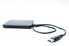 Lecteur de disque dur avec le câble Image stock