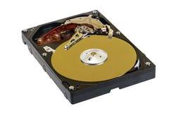 Lecteur de disque dur avec un couvercle ouvert Images libres de droits