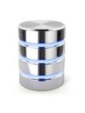 Lecteur de disque dur de Chrome, stockage de données en métal, databa léger de rayures illustration de vecteur