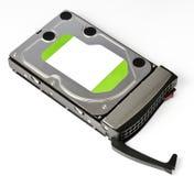 Lecteur de disque dur de serveur dans le cadre chaud d'échange Image libre de droits