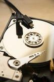 Lecteur de disque dur et câbles d'usb Images stock