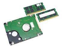 Lecteur de disque dur et mémoire de cahier images stock
