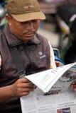 Lecteur de journal Images libres de droits