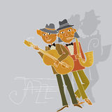 Lecteur de musique de jazz Photos libres de droits