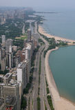 Lecteur de rivage de lac chicago IL Photos stock