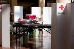 Lecteur de sang américain de Croix-Rouge photos libres de droits
