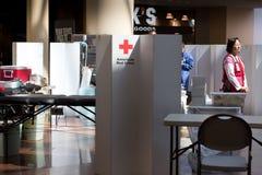 Lecteur de sang américain de Croix-Rouge photographie stock