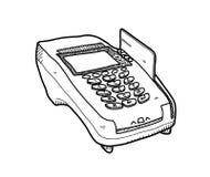 Lecteur Doodle de carte de crédit illustration libre de droits