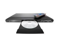 Lecteur DVD éjectant le disque avec à télécommande Images stock