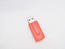Lecteur orange d'instantané d'USB photographie stock libre de droits