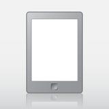 Lecteur portatif d'eBook avec le chemin de coupure pour le livre et l'écran Vous pouvez ajouter votre propre texte ou photo illustration stock