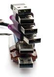 Lecteurs d'instantané d'USB Photos stock