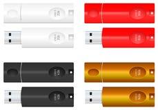 Lecteurs d'instantané d'USB Images libres de droits