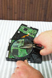 Lecteurs de disque dur Photo libre de droits