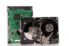 Lecteurs de disque dur ouverts Photos stock