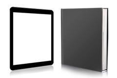 Lector de EBook. libro y tableta digital Fotografía de archivo libre de regalías
