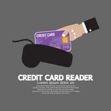 Lector de la tarjeta de crédito Imagen de archivo libre de regalías