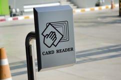 Lector de tarjetas. Imágenes de archivo libres de regalías