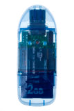 Lector de tarjetas del USB - con ambos casquillos y SD ajustados imagenes de archivo
