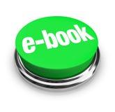 Lector nuevo de la entrega e de Digitaces del botón de EBook Foto de archivo libre de regalías