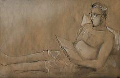 Lector ocioso Foto de archivo libre de regalías
