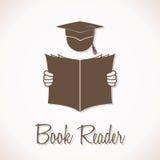 Lector Sign del libro Fotografía de archivo libre de regalías