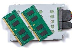 Lector y RAM de la unidad de disco duro fotografía de archivo