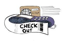 Lector y tarjeta de la máquina de tarjeta Imágenes de archivo libres de regalías