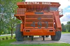 Lectra Haul M200. ASTESTOS QUEBEC CANADA 09 12 2016: Lectra Haul M200 (The first 200 tonne capacity truck with two axles). Unit Rig was a manufacturer of haul Stock Photos