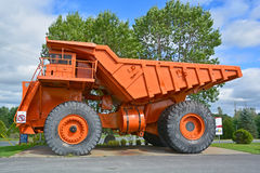 Lectra Haul M200. ASTESTOS QUEBEC CANADA 09 12 2016: Lectra Haul M200 (The first 200 tonne capacity truck with two axles). Unit Rig was a manufacturer of haul Stock Photography