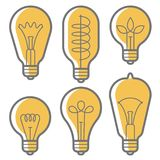 Lectric bulb vector icon set