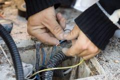 Électricien Image libre de droits