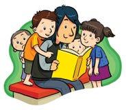 Lectura stock de ilustración