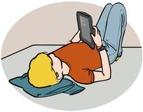 Lectura adolescente ilustración del vector