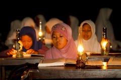 Lectura de Al Quran Fotografía de archivo libre de regalías