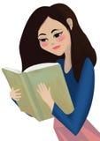 Lectura de la muchacha Fotos de archivo libres de regalías
