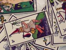 Lectura de las cartas de tarot Imagen de archivo