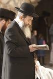Lectura de un libro sagrado Imagen de archivo libre de regalías