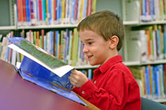 Lectura del muchacho Foto de archivo